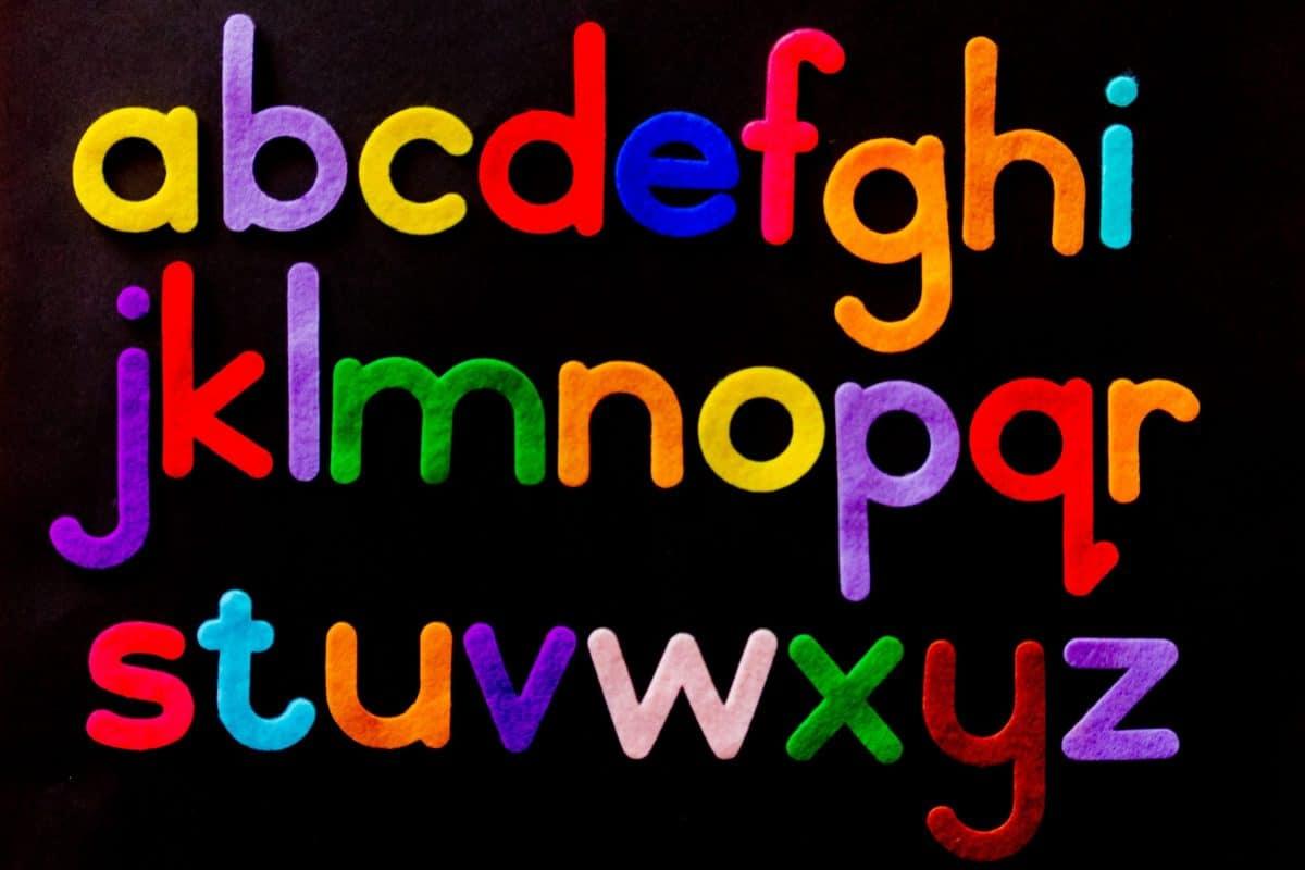 Filzbuchstaben des Alphabets. Quelle: pexels.com