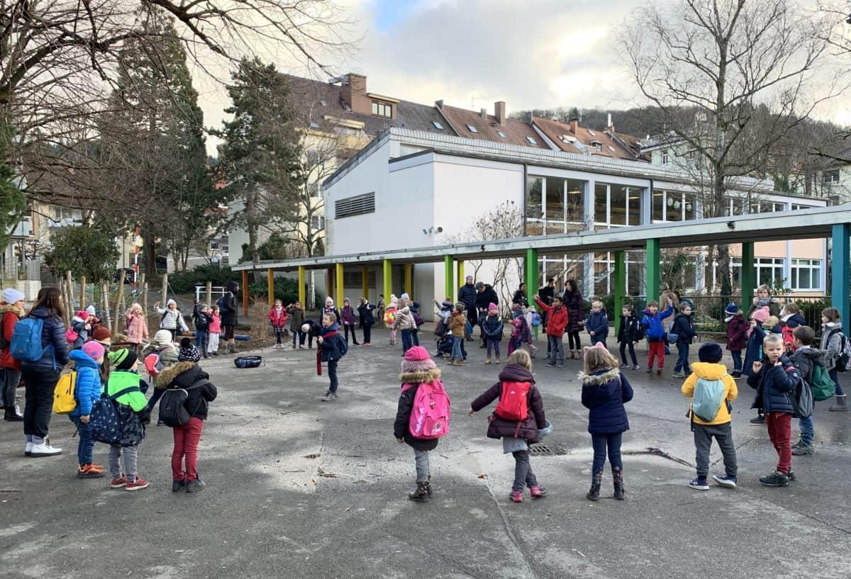 Französische Kinder zu Besuch